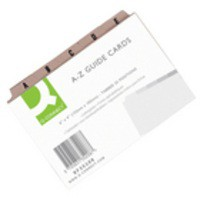 Q-Connect Guide Card 6x4 inch A-Z Buff