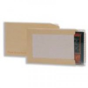Q-Connect Board-Back Envelope C4 115gsm Manilla Peel and Seal Pk 10 KF3523