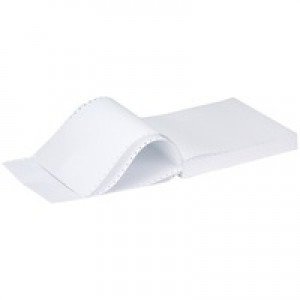 Q-Connect Listing Paper 11 inches x241mm 1-Part 60gsm Plain Micro-Perforated Pack of 2000