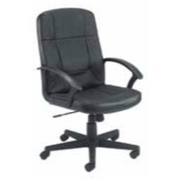 Jemini High Back Leather Faced Executive Armchair Black