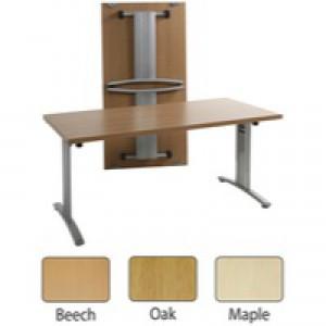 Arista Lightweight Folding Conference Table Rectangular 1600x800mm Beech KF71396