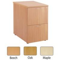 Jemini 2-Drawer Filing Cabinet Oak