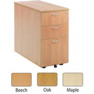 Jemini 3-Drawer Desk High Pedestal 800mm Maple KF72074