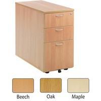Jemini 3 Drawer Desk High Pedestal 800mm Maple