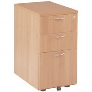 Jemini 3-Drawer Under-Desk Pedestal Beech KF72087