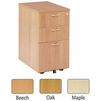 Jemini 3-Drawer Under-Desk Pedestal Maple