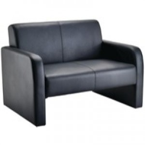 Arista Reception Sofa Flat Pack Black PU