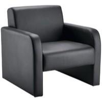 Arista Reception Chair Flat Pack Black PU