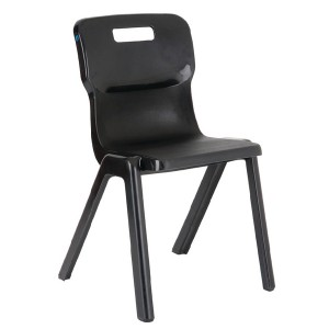 Titan One Piece School Chair Size 2 Charcoal KF72157