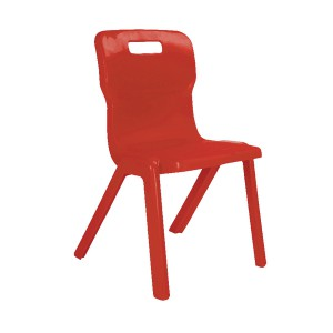 Titan One Piece School Chair Size 3 Red KF72159