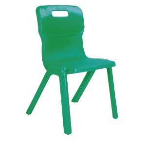Titan One Piece School Chair Size 3 Green KF72161