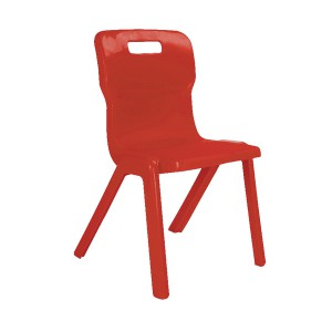 Titan One Piece School Chair Size 4 Red KF72164