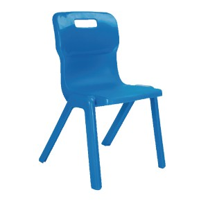 Titan One Piece School Chair Size 4 Blue KF72165