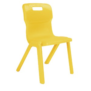 Titan One Piece School Chair Size 4 Yellow KF72168