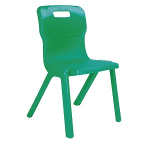 Titan One Piece School Chair Size 5 Green KF72171