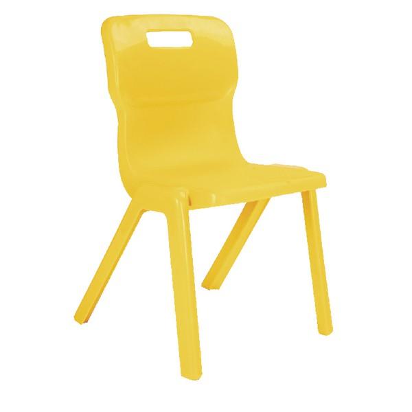 Titan One Piece School Chair Size 5 Yellow
