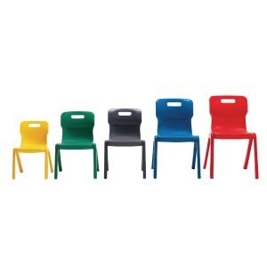 Titan One Piece School Chair Size 6 Red KF72174