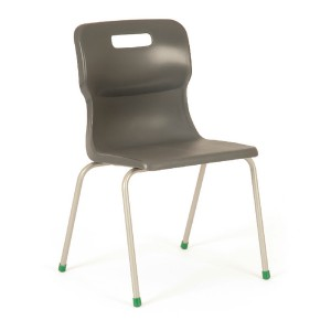 Titan 4 Leg Polypropylene School Chair Size 3 Charcoal