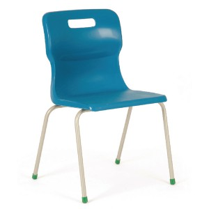 Titan 4 Leg Polypropylene School Chair Size 5 Blue
