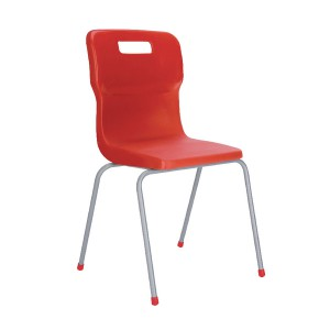 Titan 4 Leg Polypropylene School Chair Size 6 Red