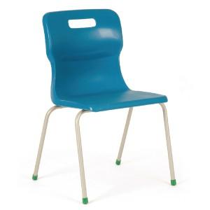 Titan 4 Leg Polypropylene School Chair Size 6 Blue