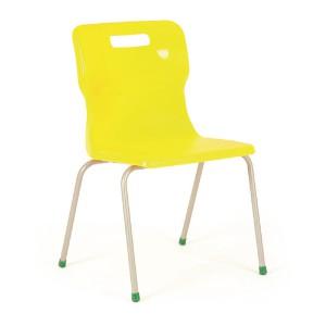 Titan 4 Leg Polypropylene School Chair Size 6 Yellow