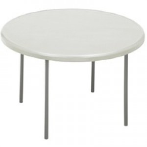Jemini 1220mm Folding Round Table White KF72331