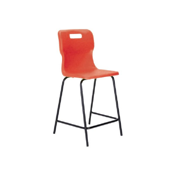 Titan Polypropylene High Chair 445mm Red T60