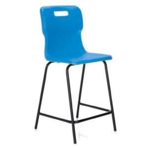 Titan Polypropylene High Chair 445mm Blue T60