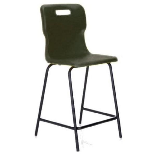 Titan Polypropylene High Chair 445mm Charcoal T60
