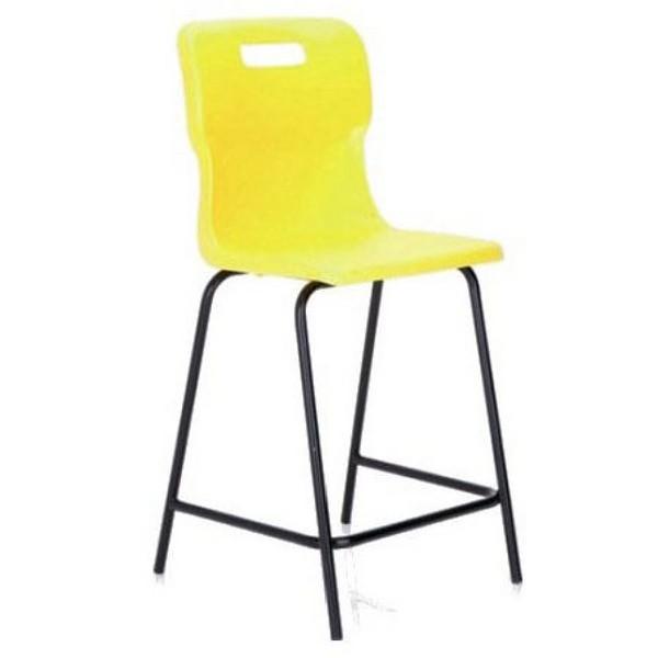 Titan Polypropylene High Chair 445mm Yellow T60
