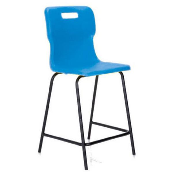 Titan Polypropylene High Chair 610mm Blue T62