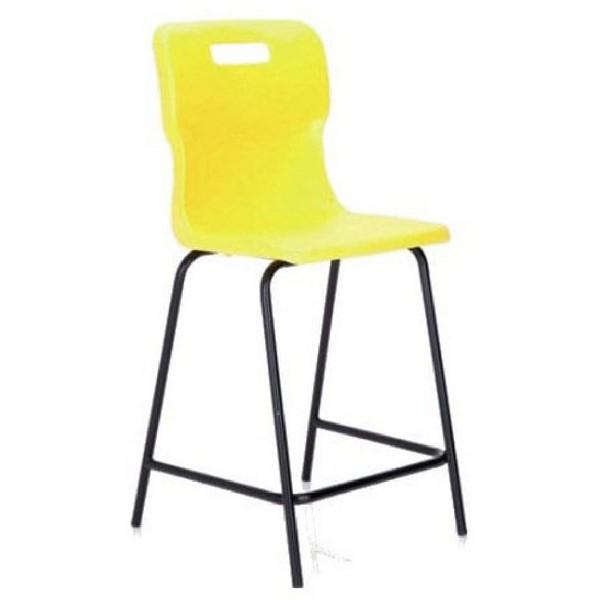 Titan Polypropylene High Chair 610mm Yellow T62