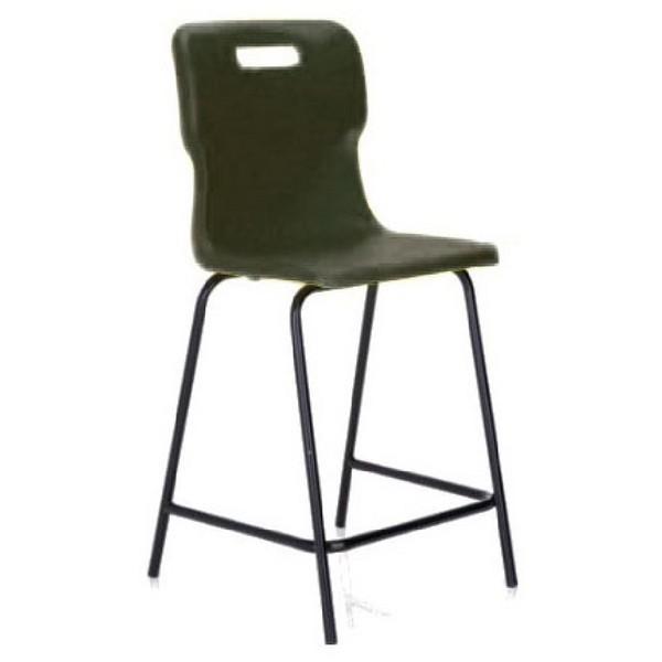 Titan Polypropylene High Chair 685mm Charcoal T63