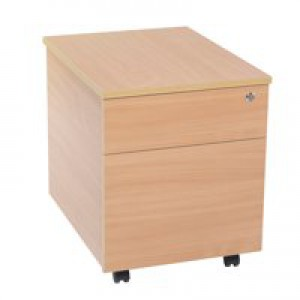 Jemini 2-Drawer Mobile Pedestal Beech KF73516