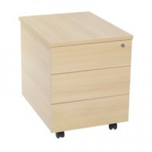 Jemini 3-Drawer Mobile Pedestal Oak KF73519