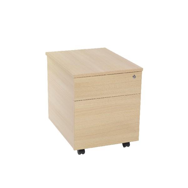 Jemini 2 Drawer Mobile Pedestal Warm Maple