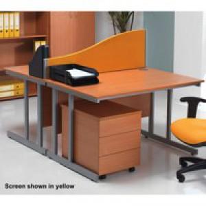 Jemini Wave Desk Screen 1600mm Black KF73926