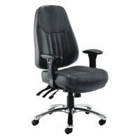 Arista Lucania Leather Task Chair Black