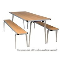 Jemini Aluminium Folding Table Rectangular Beech W1830xD685xH698mm