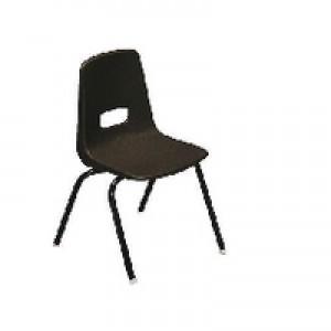 Jemini Polypropylene Stacking Chair Grey KF74960