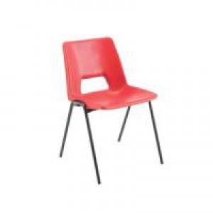 Jemini Classroom Chair Red 260mm KF74975