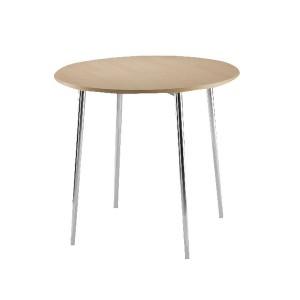 Arista Round Bistro Table Beech/Chrome KF815146