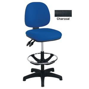 Arista Adjustable Draughtsman Chair Charcoal KF815148