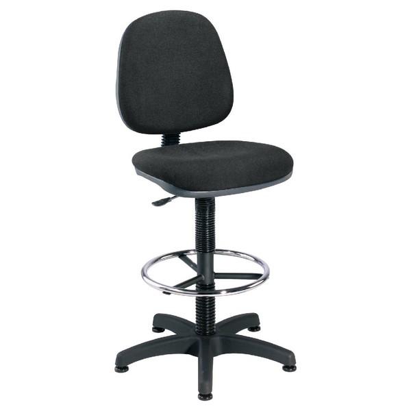 Jemini Medium Back Draughtsman Chair Charcoal