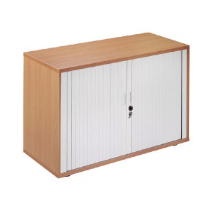 Arista Desk-High Side Tambour Oak KF838308
