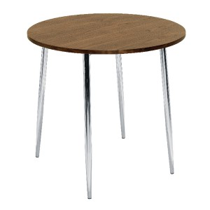 Arista Round Bistro Table Walnut/Chrome KF838316