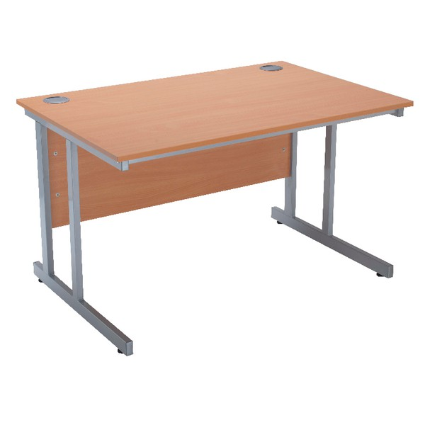 Jemini Intro 1200mm Rectangular Cantilever Desk Bavarian Beech (Pack of 1)