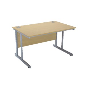Jemini Intro 1500mm Rectangular Cantilever Desk Ferrera Oak KF838518