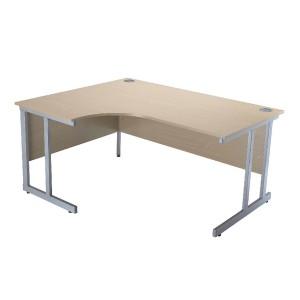 Jemini Intro 1500mm Radial Left Hand Cantilever Desk Maple KF838525